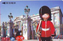 Carte Prépayée Japon * ANGLETERRE * ENGLAND *  BUCKINGHAM PALACE (338) GREAT BRITAIN Related *  Prepaid Card Japan * - Paysages