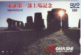Carte Prépayée Japon * ANGLETERRE * ENGLAND *  STONEHENGE  (340) GREAT BRITAIN Related *  Prepaid Card Japan * - Landscapes