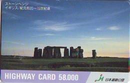 Carte Prépayée Japon * ANGLETERRE * ENGLAND *  STONEHENGE  (341) GREAT BRITAIN Related *  Prepaid Card Japan * - Landscapes