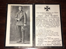 Sterbebild Wk1 Ww1 Bidprentje Avis Décès Deathcard FAR Aus Ergoldsbach - 1914-18