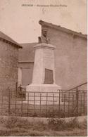Cpa 02 HOLNON Monument Charles-Poëtte (1827-1906) Journaliste, écrivain - France