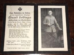 Sterbebild Wk1 Ww1 Bidprentje Avis Décès Deathcard IR16 27. März 1919 Aus Oberhirzlheim - 1914-18