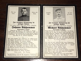 Sterbebild Wk1 Ww1 Bidprentje Avis Décès Deathcard IR11 ST. MIHIEL Wald Von AILLY IR2 Arras BIACHE St. Vaast Aus Hasla - 1914-18