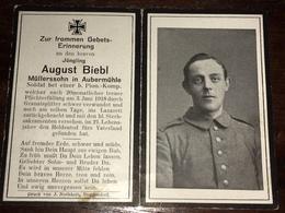 Sterbebild Wk1 Ww1 Bidprentje Avis Décès Deathcard Pionier Kompagnie 26 LHERY BLIGNY 3. Juni 1918 Aus Aubermühle - 1914-18