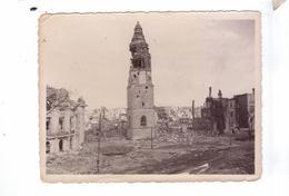 GUERRE 39 45 Ww2  Carte Photo DUREN Belfroi Destruction Avancee Americaine  Beschuss - Weltkrieg 1939-45