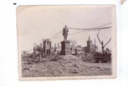 GUERRE 39 45 Ww2  Carte Photo DUREN  Destruction Avancee Americaine  Beschuss Statue - Guerre 1939-45