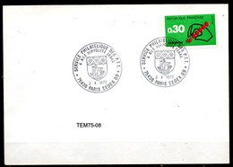 TEM75-08 : Dept 75 (Paris) 1972 > Service Philatelique PTT - Poststempel (Briefe)