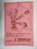 """Buvard : Toutes Les Encaustiques Sont Bonnes! Achetez-les, Puis..essayez """"L'EBENE"""", 91, Rue Camille Godard Bordeaux - Produits Ménagers"""