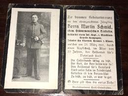 Sterbebild Wk1 Ww1 Bidprentje Avis Décès Deathcard ST. LEGER 23. März 1918 St. Laurent Blangy Aus Neuhofen - 1914-18