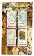 VIGNETTES DE FANTAISIE - B/F - M/S - RUANDA - RWANDA - MINERALIEN - MINERALS - MINERAUX - 2010 - - Vignettes De Fantaisie