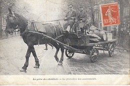 La Grève Des Cheminots La Protection Des Camionneurs - Grèves