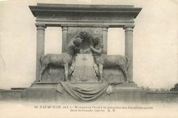 SAUMUR MONUMENT ELEVE A LA MEMOIRE DES CAVALIERS MORTS DANS LA GRANDE GUERRE - Monuments Aux Morts