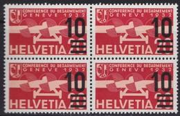 Suisse  .    Yvert    PA   19  Bloc De 4   .    **       .   Neuf   SANS  Charniere  .  /   .    MNH - Poste Aérienne