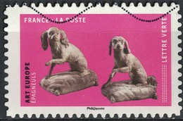France 2018 Oblitéré Used Chiens Oeuvres En Volume Art Europe Épagneuls Y&T 1525 - France