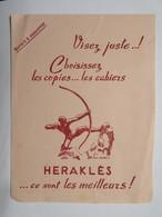 """Buvard : Visez Juste : Choisissez Les Copies, Les Cahiers """"HERAKLES"""" - Papeterie"""