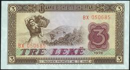 ALBANIA - 3 Leke 1976 UNC P.41 - Albanie