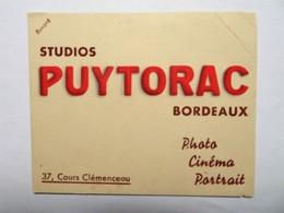 """Buvard : Studios """"PUYTORAC"""" , Bordeaux, 37, Cours Clémenceau - Buvards, Protège-cahiers Illustrés"""