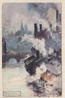 9AL206 ILLUSTRATEUR  SHEFFIELD , From The Victoria Hôtel ,Oilette , R. Tuck & Sons'  2 SCANS - Tuck, Raphael