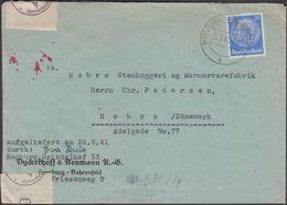 1941. HAMBURG - BAHRENFELD 25.6.41. Geprüft  Oberkommando Der Wehrmacht F + Geöffnet ... (MICHEL 522) - JF309856 - Allemagne