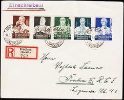 1935. DEUTSCHE NOTHILFE 3, 4, 6, 20+10 + 25+15 PF. FRIEDLAND 11.1.35. (Michel 562-563) - JF124091 - Deutschland