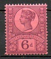 GRANDE BRETAGNE - 1887-1900 - N° 100 - 6 D. Violet S. Rouge - (Cinquantenaire Du Règne De Victoria) - 1840-1901 (Viktoria)