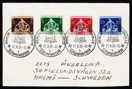 1936. BERLIN DEUTSCHLANDHALLE XI OLYMPIADE 1936. 12.8.35. 3+5+12+25 Pf. () - JF194341 - Deutschland