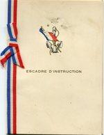 MENU Du CUIRASSE '' PARIS ''  (ESCADRE D' INSTRUCTION)  Du 18 Avril 1939  - - Menus