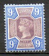 GRANDE BRETAGNE - 1887-1900 - N° 101 - 9 D. Brun Et Violet-brun - (Cinquantenaire Du Règne De Victoria) - 1840-1901 (Viktoria)