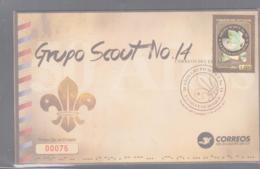 SCOUTS - ECUADOR  - 2013 -SCOTS GROUP 14  ON  ILLUSTRATED FDC - Scouting