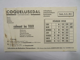 """Buvard : """"COQUELUSEDAL"""" Calment Les Toux - Drogisterij En Apotheek"""