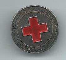 Red Cross Italy / Croce Rossa Italiana - Volontaria / Volunteers Badge.Old Rare Badge - Associations