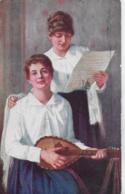 AK 0152  Klimes , Frant. - Hauskonzert / Küsntlerkarte Um 1915 - Malerei & Gemälde