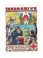 Vignette Militaire Delandre - Croix Rouge - Tananarive - Commemorative Labels