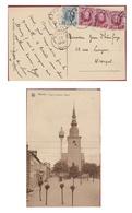 Marche-en-Famenne Place Du Marche Timbres 1929 Roi Albert I 10 Ct Centimes Overdruk (En Très Bon Etat) - 1915-1920 Albert I