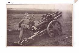 GUERRE 39 45 Ww2  Carte Photo German Army Big Gun Uniform Soldiers Deutsch  Soldats Allemands - Weltkrieg 1939-45