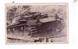 GUERRE 39 45 Ww2  Carte Photo German Army Tank  Deutsch Char Allemands Sturmgeschutz Uberwindet - Weltkrieg 1939-45