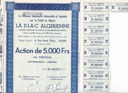Th6ALGERIE : D. I. A. C. : Action De 5000 Frs???N° 3 - Shareholdings