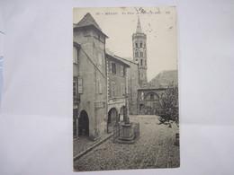 CPA  12 MILLAU La Place De L'Hotel-de-Ville  (Aveyron) 1913 TBE - Millau