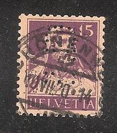 Perfin/perforé/lochung Switzerland No YT141/141a 1914 William Tell  CFB   C.F. Bally (Schuhfabriken AG) Schonenwerd - Perforés