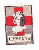 Vignette Militaire Delandre - Croix Rouge - Lisbonne - Commemorative Labels