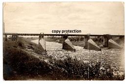 Jura Brücke Bei Poscheruni (Pozerunai Lietuva ?), 1916, Alte Foto Postkarte, Holz Transport Auf Dem Wasser - Lituanie