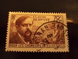 """1939     -timbre Oblitéré N°   437   """"  Claude Debussy      """"      Côte    2.75     Net     0.90 - Oblitérés"""