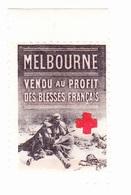 Vignette Militaire Delandre - Croix Rouge - Melbourne - Commemorative Labels