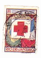 Vignette Militaire Delandre - Croix Rouge - Rio De Janeiro - Pliure - Commemorative Labels