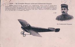 France Aviation, Monoplan Nieuport Piloté Par Le Lieutenant Féquant (1524) - Aviateurs