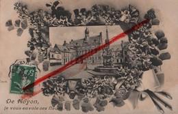 (Oise) Noyon - 60 - De Noyon, Je Vous Envoie Ces Fleurs, Hôtel De Ville (circulé 1908) - Noyon