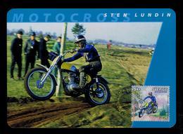 STEN LUNDIN Motorcycles Sports Motos Transports 2002 Motocross Maximum Cards SWEDEN Mc709 - Motos