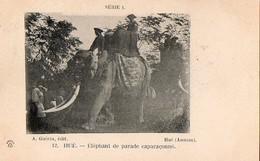 ANNAM - Hué - Eléphant De Parade Caparaçonné - Viêt-Nam