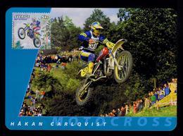 Hâkan Carlqvist Motorcycles Sports Motos Motorbikes Transports 2002 Motocross Maximum Cards SWEDEN Mc710 - Motos
