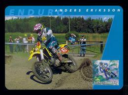 Anders Eriksson Motorcycles Sports Motos Motorbikes Transports 2002 Motocross Maximum Cards SWEDEN Mc711 - Motos